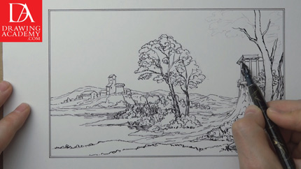 Landscape Pictures For Drawing How to Draw a Landscape