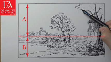 How to Draw a Scenery